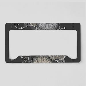 Elegant Floral License Plate Holder
