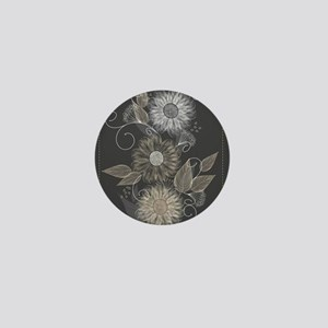 Elegant Floral Mini Button