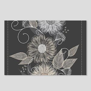 Elegant Floral Postcards (Package of 8)