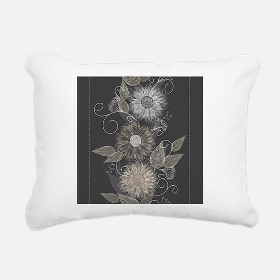 Elegant Floral Rectangular Canvas Pillow