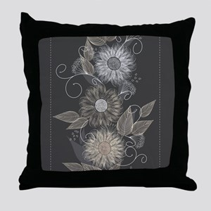 Elegant Floral Throw Pillow