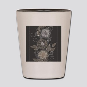 Elegant Floral Shot Glass