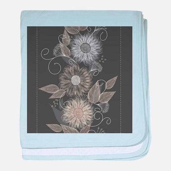 Elegant Floral baby blanket