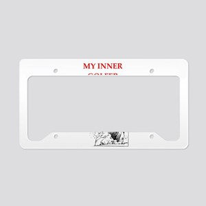 golf joke License Plate Holder