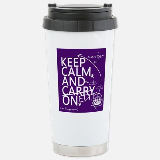 Keep Calm and Edit On Small Mugs