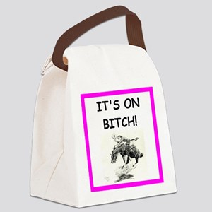 rodeo joke Canvas Lunch Bag