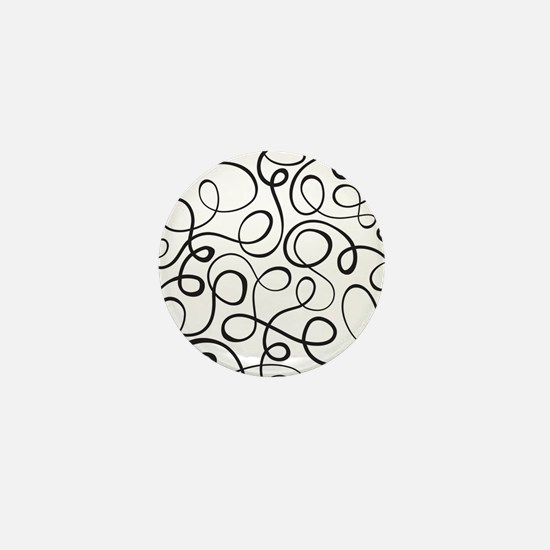 Swirls Pattern Mini Button