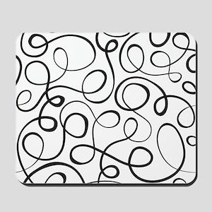 Swirls Pattern Mousepad