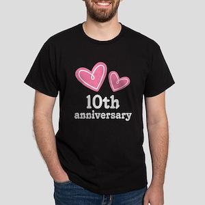 10th Anniversary Hearts Dark T-Shirt