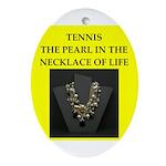 tennis joke Ornament (Oval)