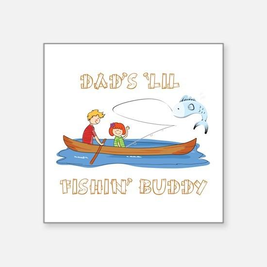 Dad's 'Lil Fishin' Buddy - Girl Sticker