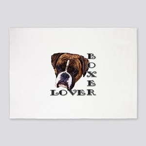Boxer Lover 5'x7'Area Rug