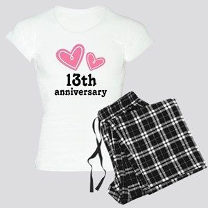 13th Anniversary Hearts Women's Light Pajamas