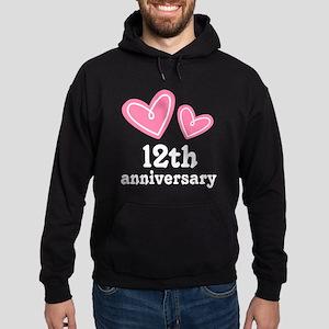 12th Anniversary Hearts Hoodie (dark)
