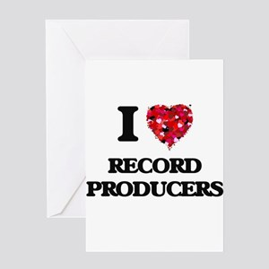 I love Record Producers Greeting Cards