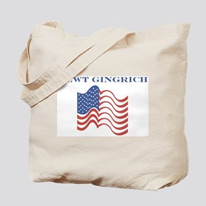 Newt Gingrich (american flag) Tote Bag