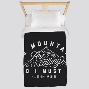 The Mountains Are Calling And I M Twin Duvet Cover