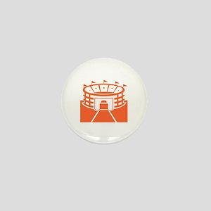 Orange Stadium Mini Button