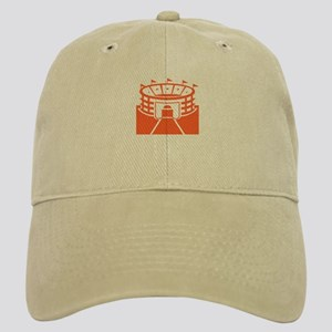 Orange Stadium Cap