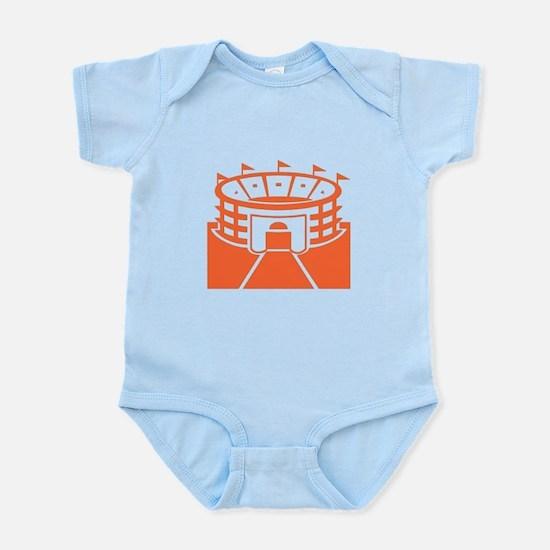 Orange Stadium Infant Bodysuit