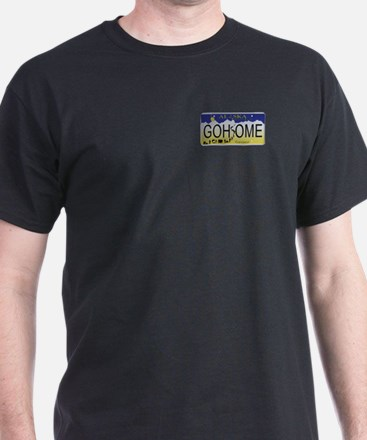 Go Home Alaskan License Plate T-Shirt