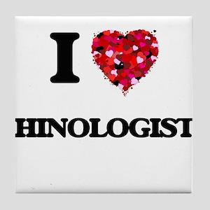 I love Rhinologists Tile Coaster