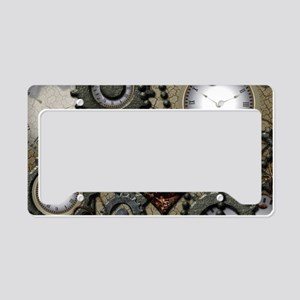 Steampunk License Plate Holder