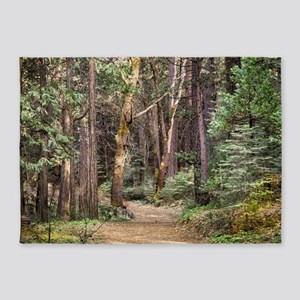 Trail through the Woods 5'x7'Area Rug