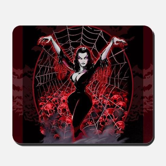 Vampira Spider Web Gothic Mousepad
