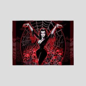 Vampira Spider Web Gothic 5'x7'Area Rug