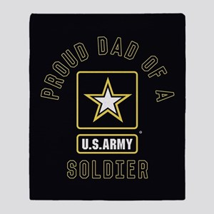 Proud Dad of A U.S. Army Soldier Throw Blanket