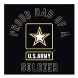 Army dad Square Car Magnets