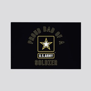Proud Dad of A U.S. Army Soldier Rectangle Magnet