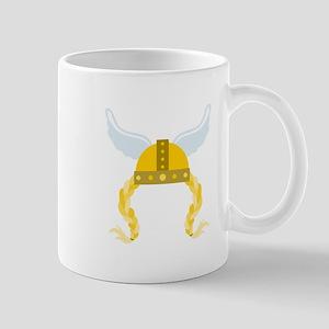 Viking Helmet Braids Mugs