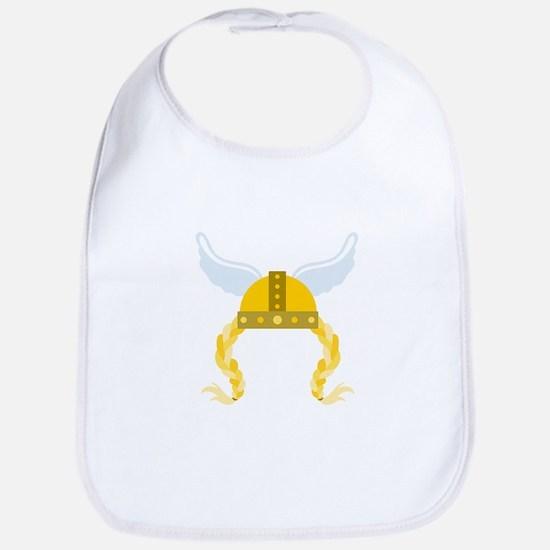 Viking Helmet Braids Bib