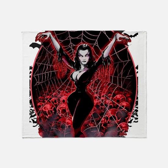 Vampira Spider Web Gothic Throw Blanket