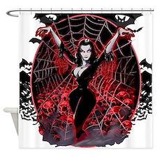 Vampira Spider Web Gothic Shower Curtain