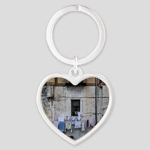 laundry day Heart Keychain