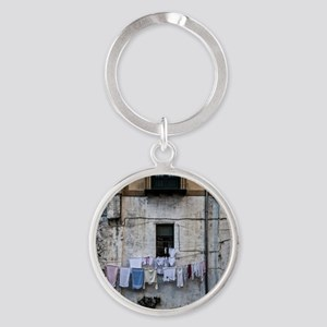 laundry day Round Keychain