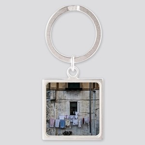 laundry day Square Keychain