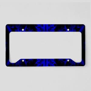Cobalt Blue Fractal License Plate Holder