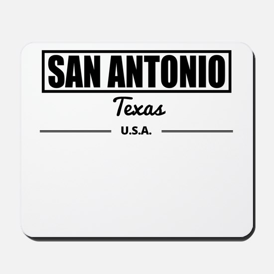 San Antonio Texas Mousepad