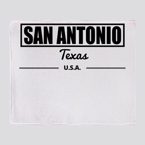San Antonio Texas Throw Blanket