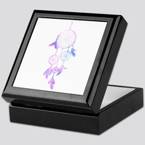 Bohemian Watercolor Dreamcatcher Keepsake Box