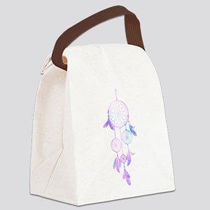 Bohemian Watercolor Dreamcatcher Canvas Lunch Bag