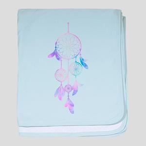 Bohemian Watercolor Dreamcatcher baby blanket