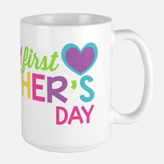 Happy First Father's Day Girls Mugs