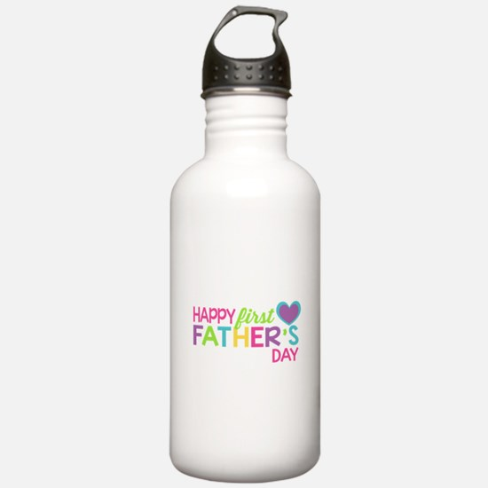 Happy First Father's D Water Bottle