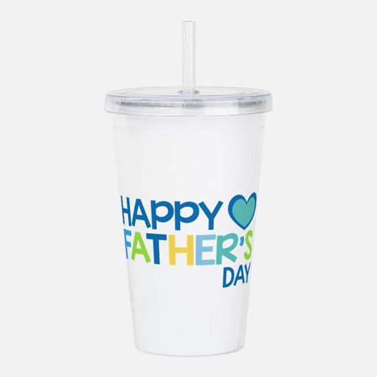 Happy Father's Day Boy Acrylic Double-wall Tumbler