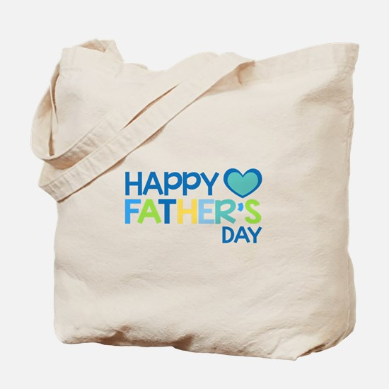 Happy Father's Day Boys Tote Bag